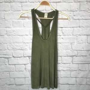 Free people green strappy tank top
